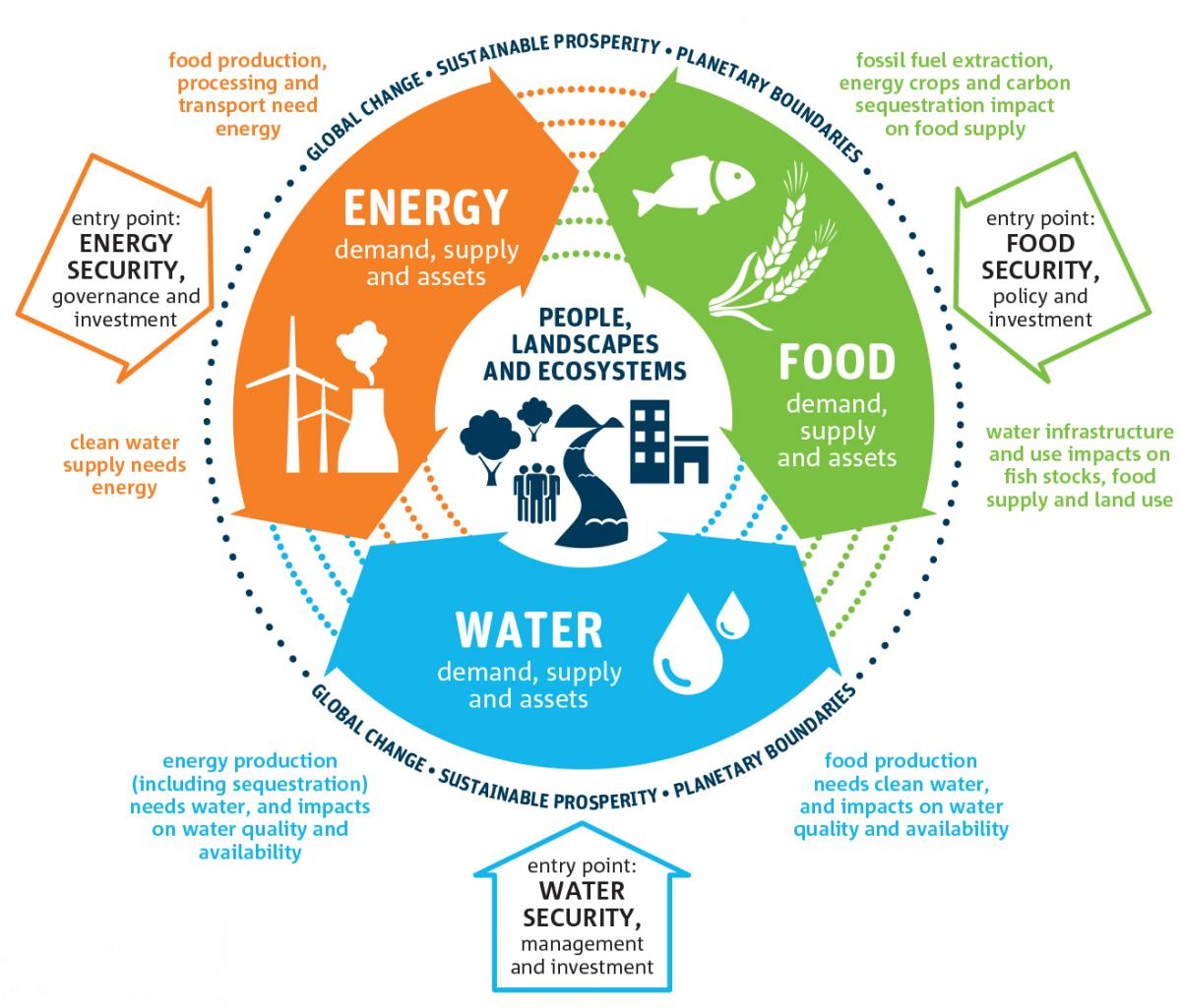 Interrelation and interaction of water food and energy in policy making