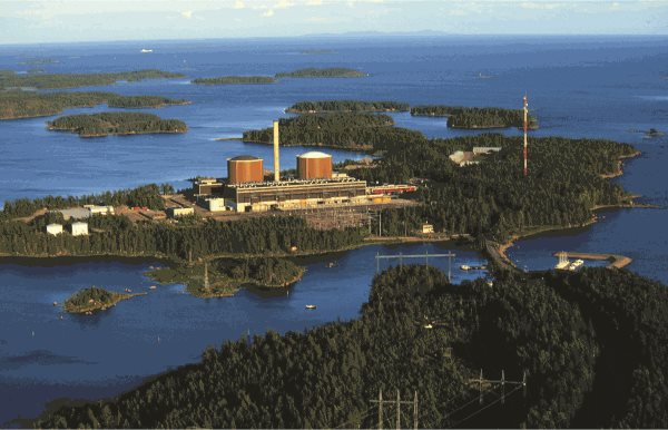 Fortum's Loviisa nuclear power plant on a sunny day in Finland
