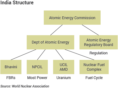 Structure of India's nuclear power industry